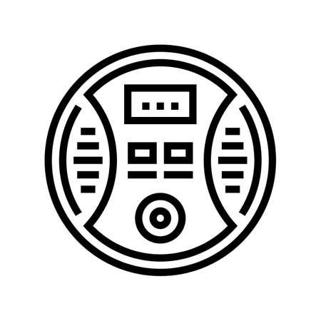 carbon monoxide detector line icon vector. carbon monoxide detector sign. isolated contour symbol black illustration Vecteurs