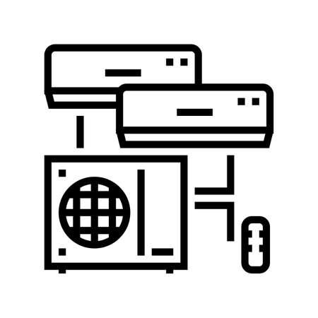 split system line icon vector. split system sign. isolated contour symbol black illustration Vecteurs