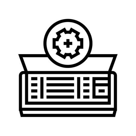 air conditioning maintenance line icon vector. air conditioning maintenance sign. isolated contour symbol black illustration