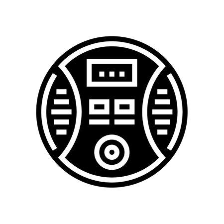 carbon monoxide detector glyph icon vector. carbon monoxide detector sign. isolated contour symbol black illustration Vecteurs