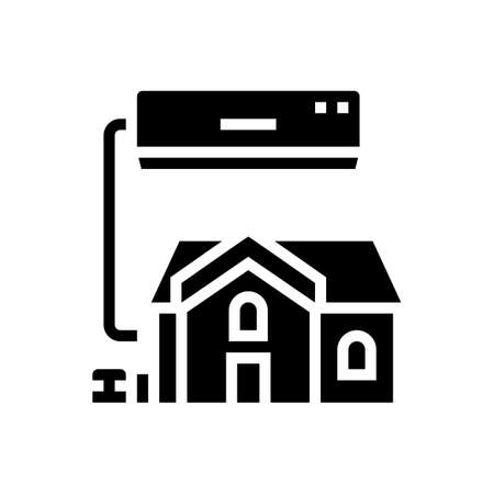 residential conditioning system glyph icon vector. residential conditioning system sign. isolated contour symbol black illustration