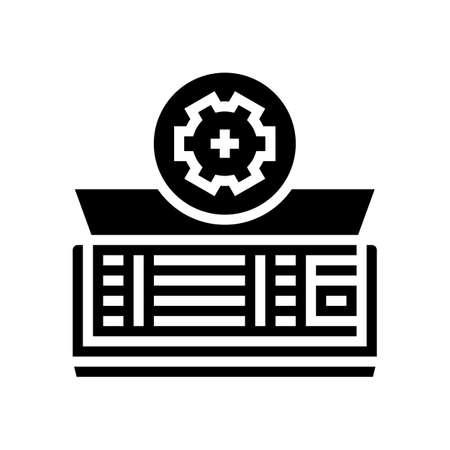 air conditioning maintenance glyph icon vector. air conditioning maintenance sign. isolated contour symbol black illustration