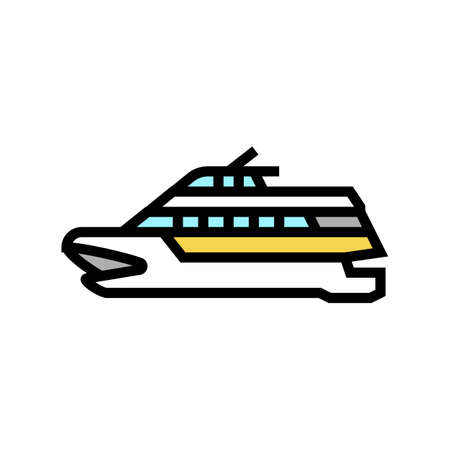 catamaran boat color icon vector. catamaran boat sign. isolated symbol illustration