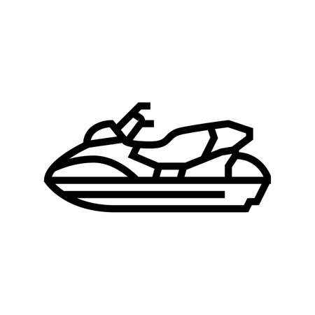 personal watercraft line icon vector. personal watercraft sign. isolated contour symbol black illustration Vecteurs