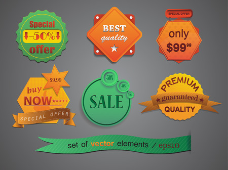 Vector badges for your design Vector