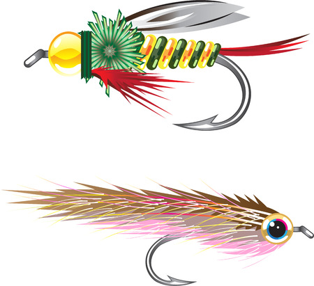 fishhook: Fishing Flies lures Bug and Minnow
