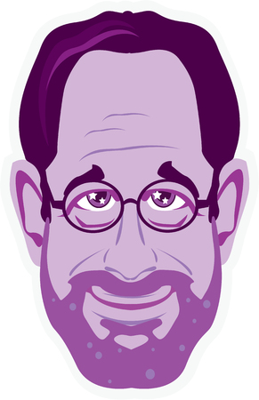 fullbody: Professor bearded face vector illustration clip-art image