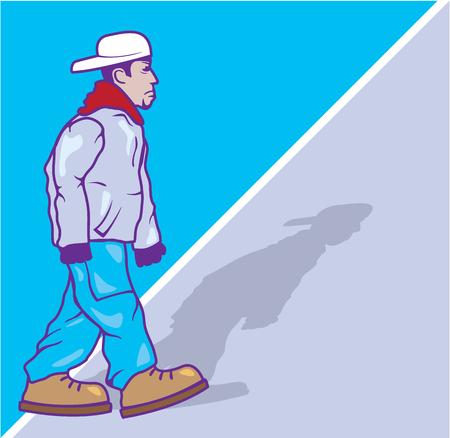 gang member: Pro gangster vector illustration clip-art image eps file