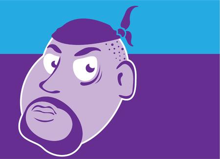 Gangster in bandana vector illustration clip-art image Illustration