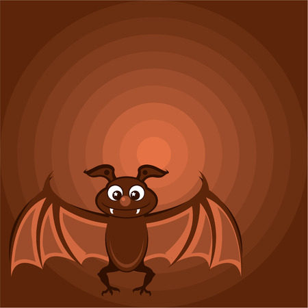 Cartoon bat vector illustration clip-art image