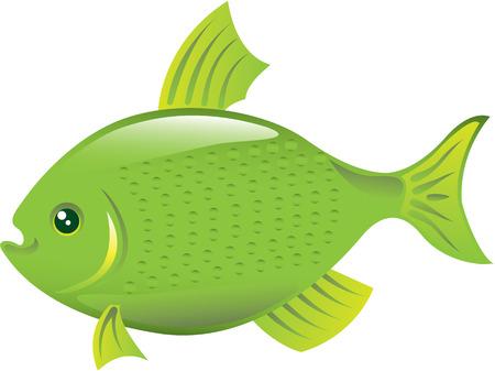 Green fish vector illustration clip-art image