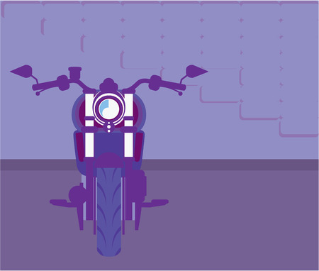 Cruiser motorcycle vector illustration clip-art image Vectores