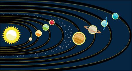 Planetary system vector illustration clip-art image