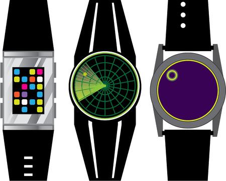 Wrist device vector illustration clip-art image
