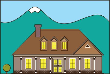 Huis landgoed vector illustratie illustraties kunstwerk