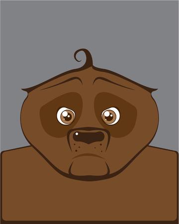 Brown bear vector illustration clip-art image