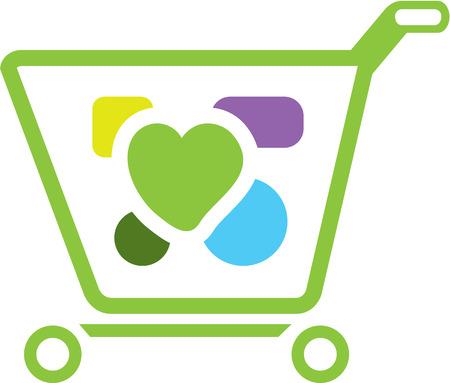 Shopping cart vector illustration clip-art image