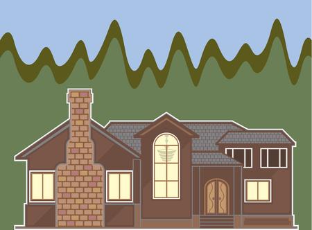 beeld Open haard huis vector illustratie clip-art