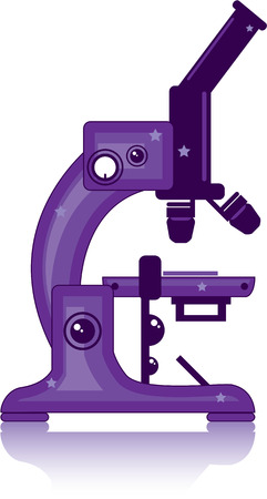 Microscope vector illustration clip-art image Illustration