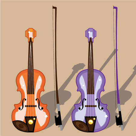 Violin vector illustration clip-art image