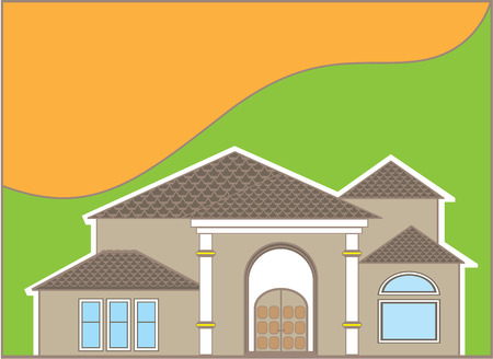 housing project: Luxury house vector illustration clip-art image Illustration