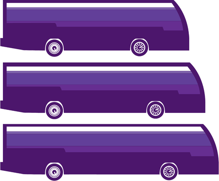 Stretch bus vector illustration clip-art image