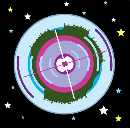 Earth core vector illustration clip-art image artwork