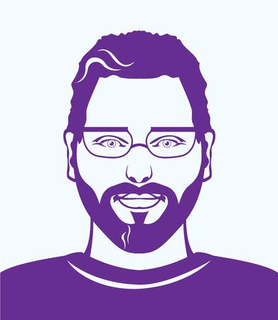 L'uomo immagine clip-art illustrazione vettoriale occhiali in Archivio Fotografico - 67677985