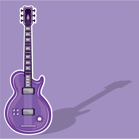 rosewood: Guitar electric vector illustration clip-art image Illustration