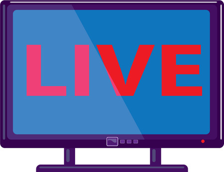 dvd player: Live show TV vector icon illustration clip-art image