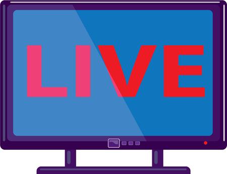 Live show TV vector icon illustration clip-art image