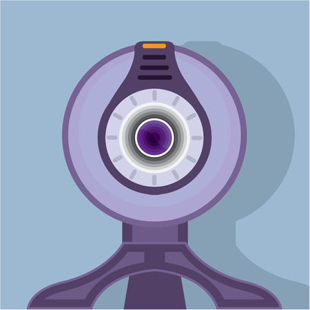 Webcam vector illustration clip-art image Illustration