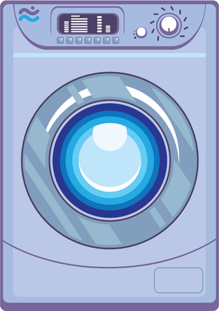 Washing machine vector illustration clip-art image