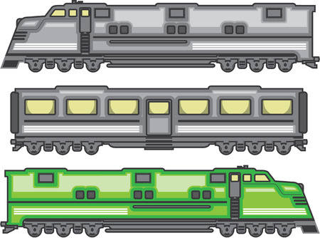 high speed rail: Locomotive color vector illustration clip-art image eps
