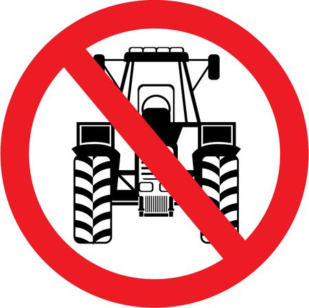 No Tractors here vector illustration clip-art image