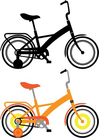 treadle: Kids bicycles vector illustration clip-art image