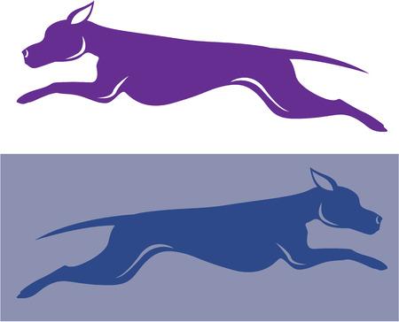 Running dog vector illustration clip-art image