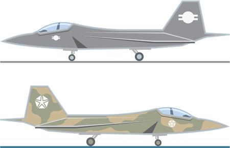 Fighter Jet vector illustration clip-art image Illustration
