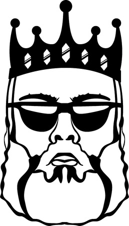 King beard vector illustration clip-art image file