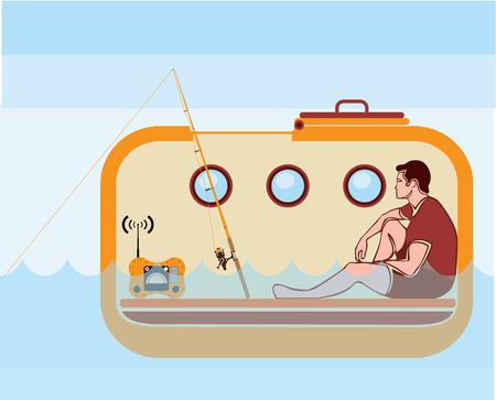 Lifeboat vector illustration clip-art image vessel Illustration