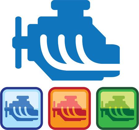 Engine Logo vector illustration clip-art image eps simple Stok Fotoğraf - 67678063