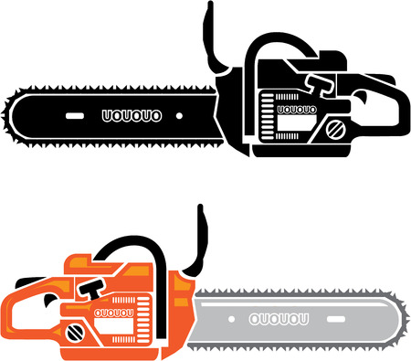Chainsaw vector illustration clip-art image file