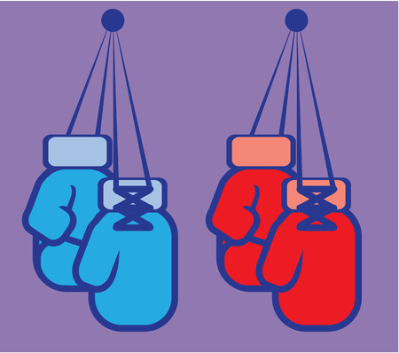Boxing gloves vector illustration clip-art image