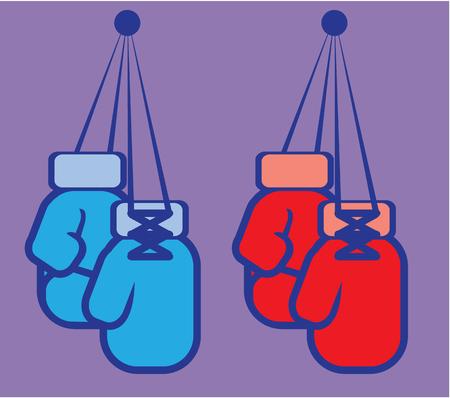 Boxing gloves vector illustration clip-art image