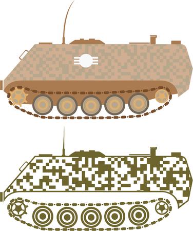 personel: Personel carrier vector illustration clip-art image Illustration