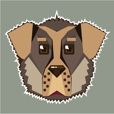 Dog Vector icon illustration clip-art image eps