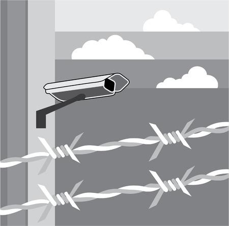 fema: Security Camera. Secure Facility. Illustration