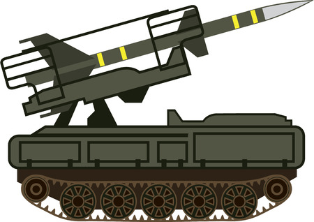 armaments: Rocket launcher vector illustration clip-art image military vehicle