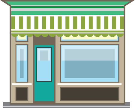 store front: Store Front Vector illustration clip-art image file
