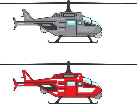 Modern Concept Helicopter illustration clip-art image